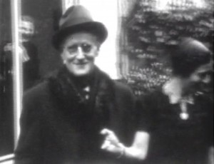 Joyce in Zurich; Courtesy The University of Tulsa Special Collections. Richard Ellmann Papers